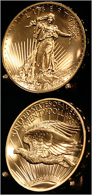 MINT DIRECTOR MOY STRIKES FIRST 2009 ULTRA-HIGH-RELIEF DOUBLE EAGLES
