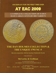 COMPLETE COLLECTION OF EARLY DATE LARGE CENT DIE VARIETIES TO BE DISPLAYED