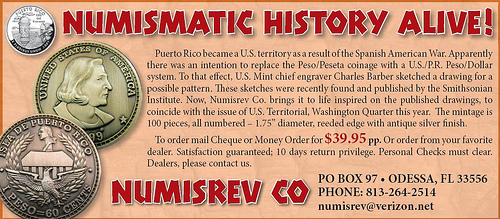FIRM OFFERS FANTASY'S BASED ON SMITHSONIAN'S CHARLES BARBER PUERTO RICO SKETCH