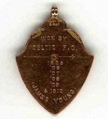 1910 CELTIC FOOTBALL CLUB MEDAL DISCUSSED ON TV ANTIQUE SHOW