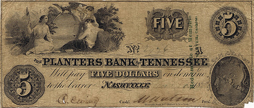BOOK IN PROGRESS: TENNESSEE OBSOLETE PAPER MONEY