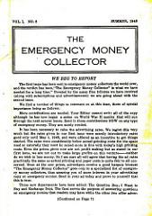 THE EMERGENCY MONEY COLLECTOR, VOL. 1 NO. 2