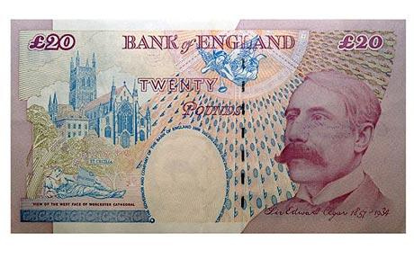 OLD BANK OF ENGLAND 20 POUND NOTE BEING DEMONETIZED
