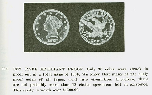 MORE ON THE 1872 J.F. BELL PROOF EAGLE