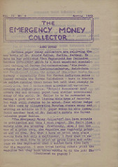 THE EMERGENCY MONEY COLLECTOR, VOL. 2 NO. 2