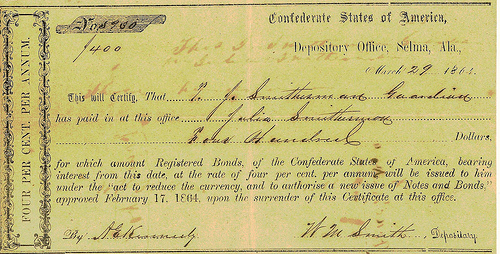 NEW BOOK: CONFEDERATE TREASURY CERTIFICATES