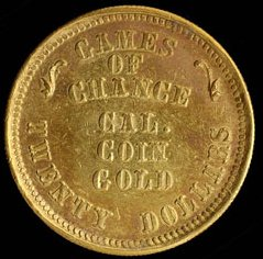 ON THE DIANA GAMES OF CHANCE TWENTY DOLLAR GOLD PIECE