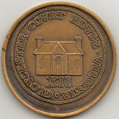 GLOUCESTER TOKEN REPRODUCTIONS OFFERED