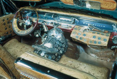 ROY ROGERS' SILVER-DOLLAR STUDDED CAR