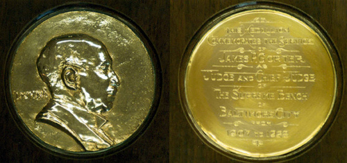 MORE ON THE JUDGE JAMES P. GORTER MEDAL
