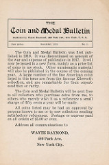 THE COIN & MEDAL BULLETIN