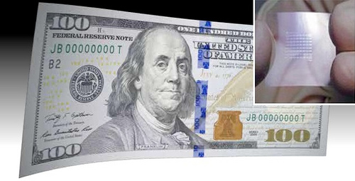 ORGANIC ELECTRONICS ON BANKNOTES: CAN CIRCUITS CIRCUMVENT COUNTERFEITS?