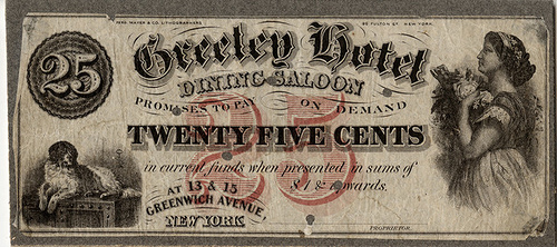 OBSOLETE BANKNOTE EXHIBIT: CAPITAL OF CAPITAL: NEW YORK'S BANKS