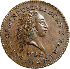 THE BOYD-NEWMAN 1792 SILVER CENTER CENT