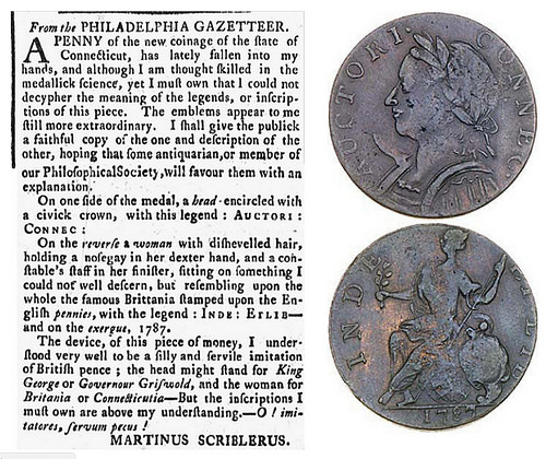 MARTINUS SCRIBLERUS ON THE CONNECTICUT COPPERS