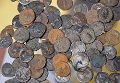 ROMAN COIN FIND DISPLAYED AT CLIFFE CASTLE