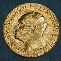 WHAT THE NOBEL PEACE PRIZE MEDAL LOOKS LIKE