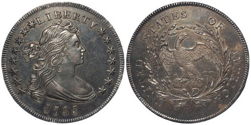 1795 DRAPED BUST DOLLAR SELLS FOR £28,000