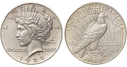 THE 1922 MATTE PROOF PEACE DOLLAR