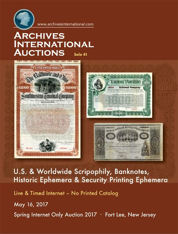 STACK'S BOWERS MAY 2017 WORLD ONLINE AUCTION