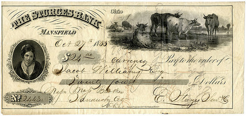 ARTICLE HIGHLIGHTS MANSFIELD, OHIO PAPER MONEY