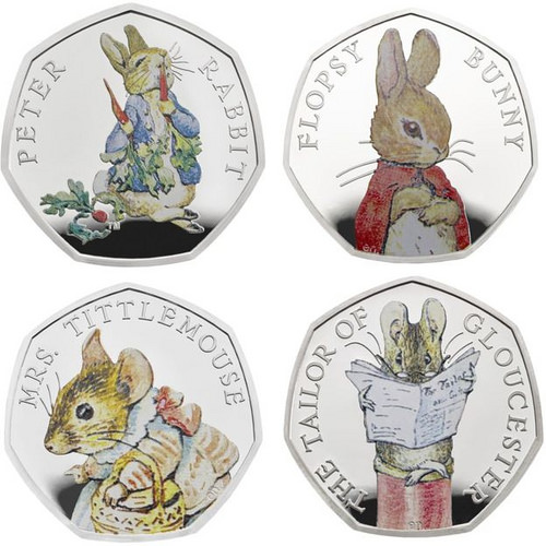 2018 ROYAL MINT BEATRIX POTTER COINS RELEASED